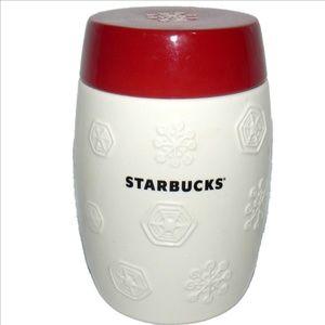 2011 STARBUCKS Red & White Snowflake Canister